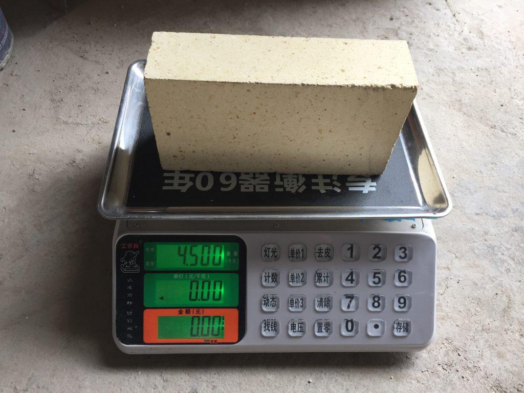 一级高铝砖单重